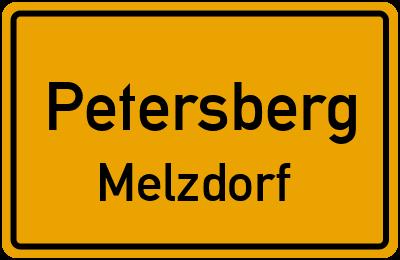 Ortsschild Petersberg Melzdorf