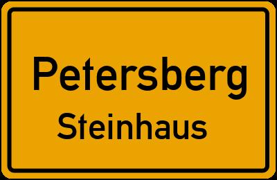 Ortsschild Petersberg Steinhaus