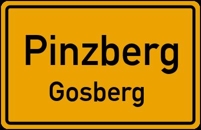 Ortsschild Pinzberg Gosberg