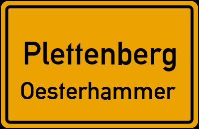 Ortsschild Plettenberg Oesterhammer
