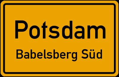 Straßenverzeichnis Potsdam Babelsberg Süd