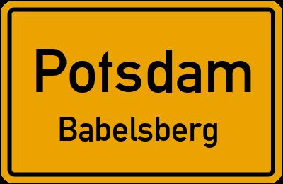 Straßenverzeichnis Potsdam Babelsberg