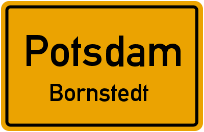 Straßenverzeichnis Potsdam Bornstedt