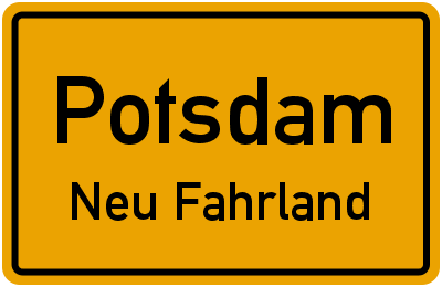 Straßenverzeichnis Potsdam Neu Fahrland