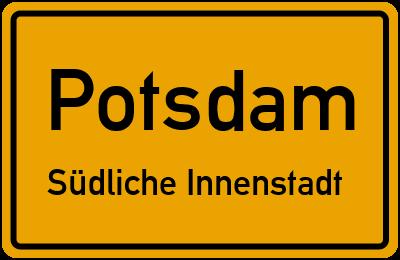 Straßenverzeichnis Potsdam Südliche Innenstadt