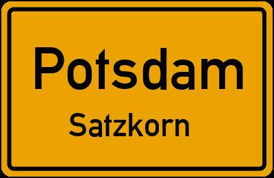 Straßenverzeichnis Potsdam Satzkorn