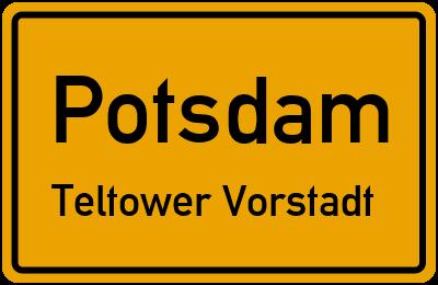 Straßenverzeichnis Potsdam Teltower Vorstadt