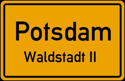 Straßenverzeichnis Potsdam Waldstadt II