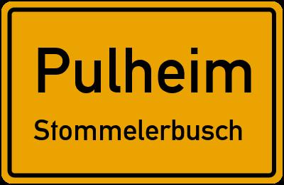 Ortsschild Pulheim Stommelerbusch