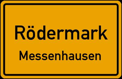 Ortsschild Rödermark Messenhausen