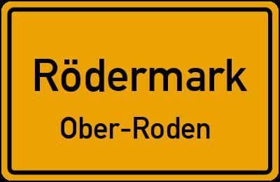 Ortsschild Rödermark Ober-Roden