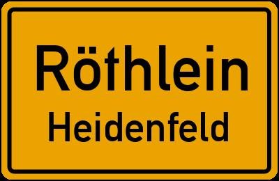 Straßenverzeichnis Röthlein Heidenfeld