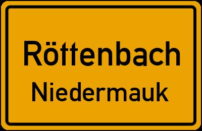 Ortsschild Röttenbach Niedermauk