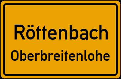 Ortsschild Röttenbach Oberbreitenlohe