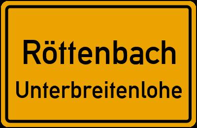Ortsschild Röttenbach Unterbreitenlohe