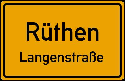 Karl-Michels-Straße in RüthenLangenstraße