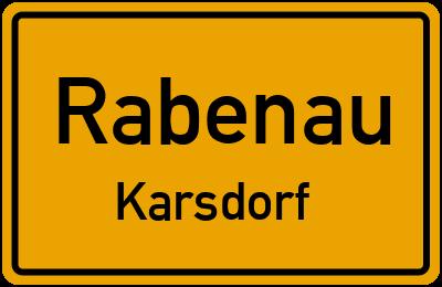 Ortsschild Rabenau Karsdorf