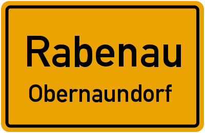 Ortsschild Rabenau Obernaundorf