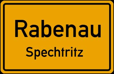 Ortsschild Rabenau Spechtritz