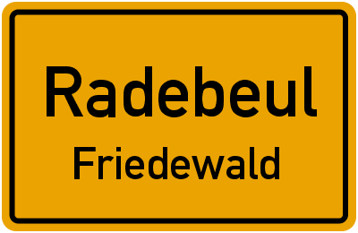 Ortsschild Radebeul Friedewald