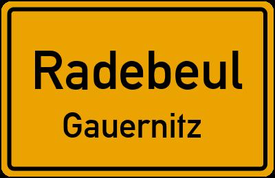 Ortsschild Radebeul Gauernitz