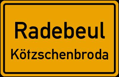 Ortsschild Radebeul Kötzschenbroda