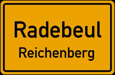Ortsschild Radebeul Reichenberg