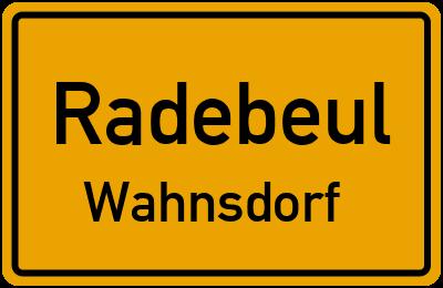 Ortsschild Radebeul Wahnsdorf