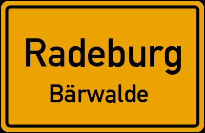 Ortsschild Radeburg Bärwalde