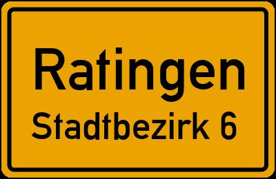 Ortsschild Ratingen Stadtbezirk 6