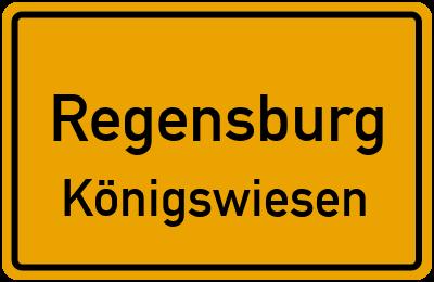 Ortsschild Regensburg Königswiesen