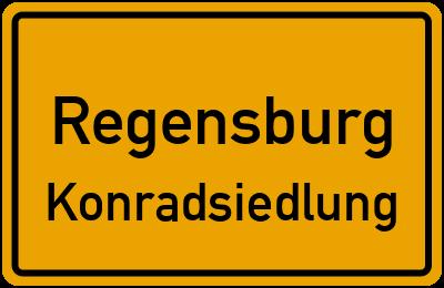 Ortsschild Regensburg Konradsiedlung