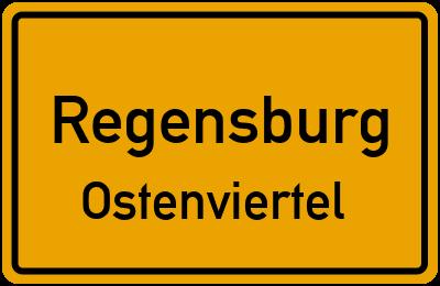 Ortsschild Regensburg Ostenviertel