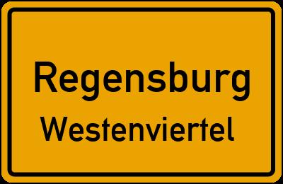 Ortsschild Regensburg Westenviertel