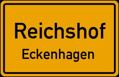 Ortsschild Reichshof Eckenhagen