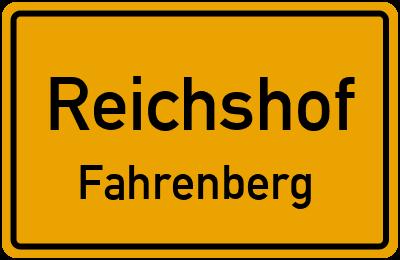 Ortsschild Reichshof Fahrenberg