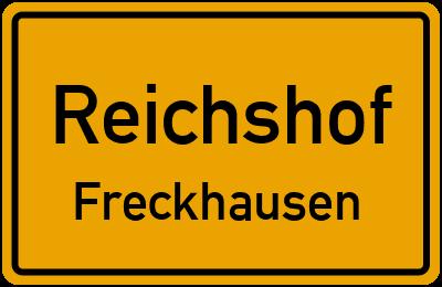 Ortsschild Reichshof Freckhausen