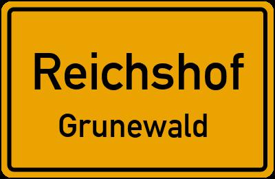 Ortsschild Reichshof Grunewald