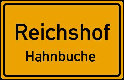 Ortsschild Reichshof Hahnbuche