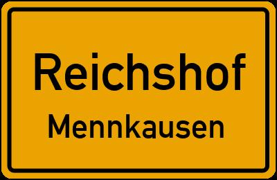 Ortsschild Reichshof Mennkausen