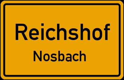 Ortsschild Reichshof Nosbach