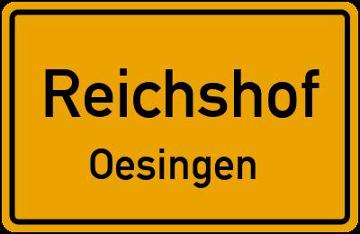 Ortsschild Reichshof Oesingen