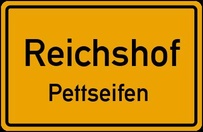 Ortsschild Reichshof Pettseifen