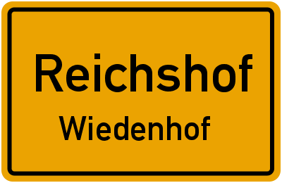 Ortsschild Reichshof Wiedenhof