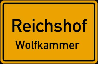Ortsschild Reichshof Wolfkammer
