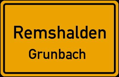 Straßenverzeichnis Remshalden Grunbach