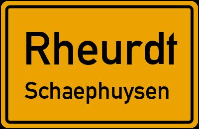 Ortsschild Rheurdt Schaephuysen