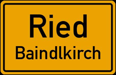 Ortsschild Ried Baindlkirch