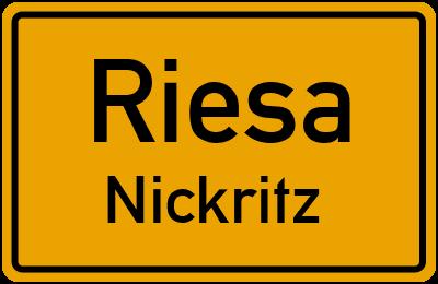 Gostewitzer Straße in RiesaNickritz