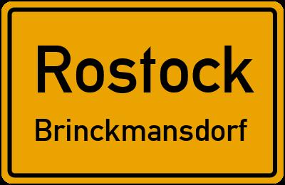 Straßenverzeichnis Rostock Brinckmansdorf